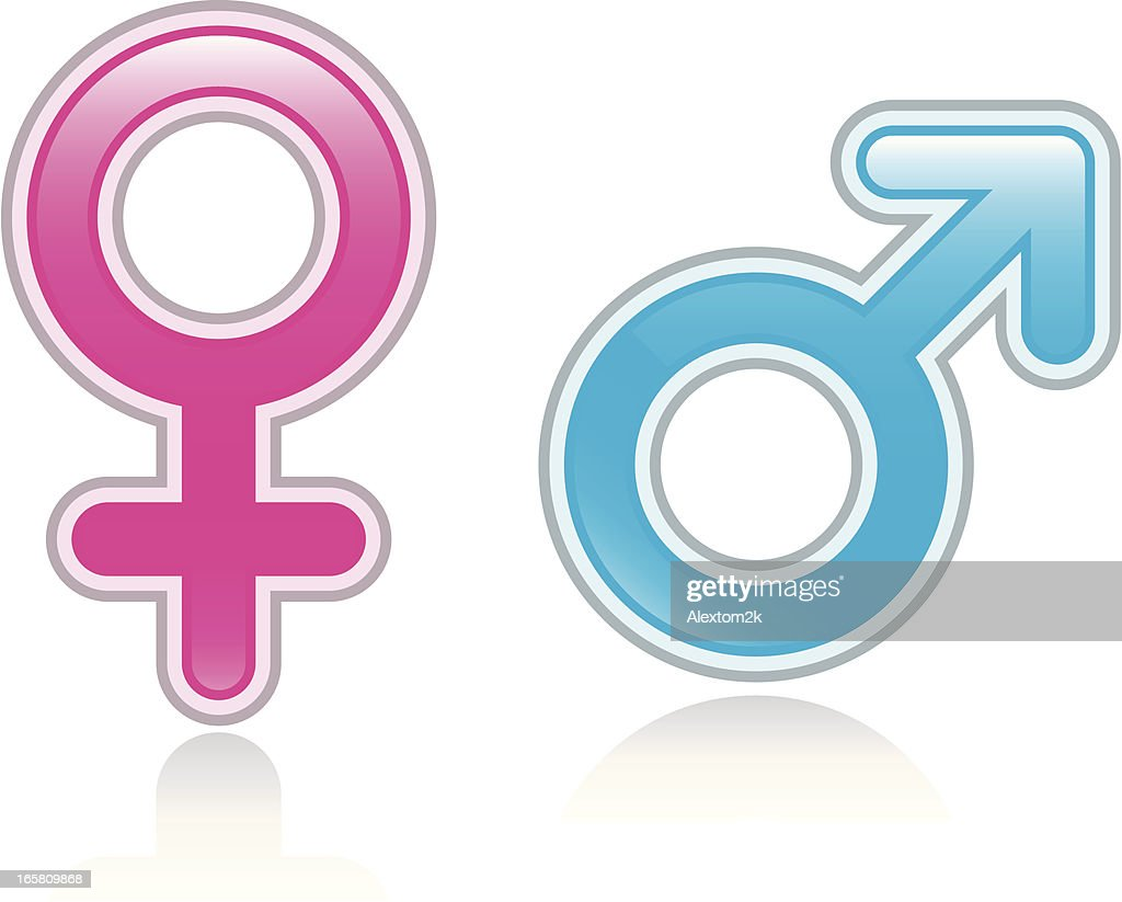Male Female Glossy Symbols Vector Art Getty Images