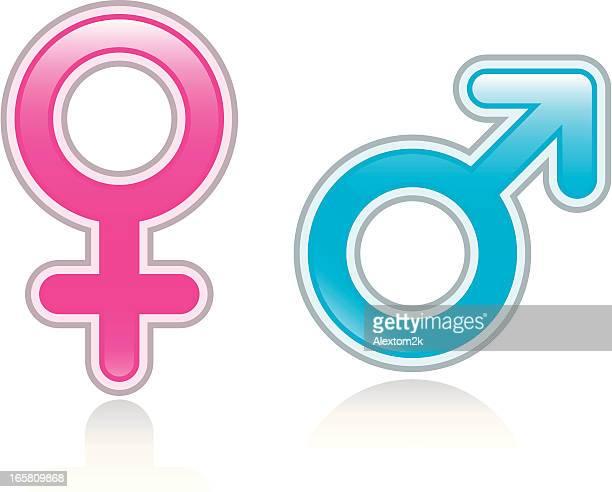 Desenhos animados e ilustrações de stock de Símbolo Feminino E ... 6e319e6b86e