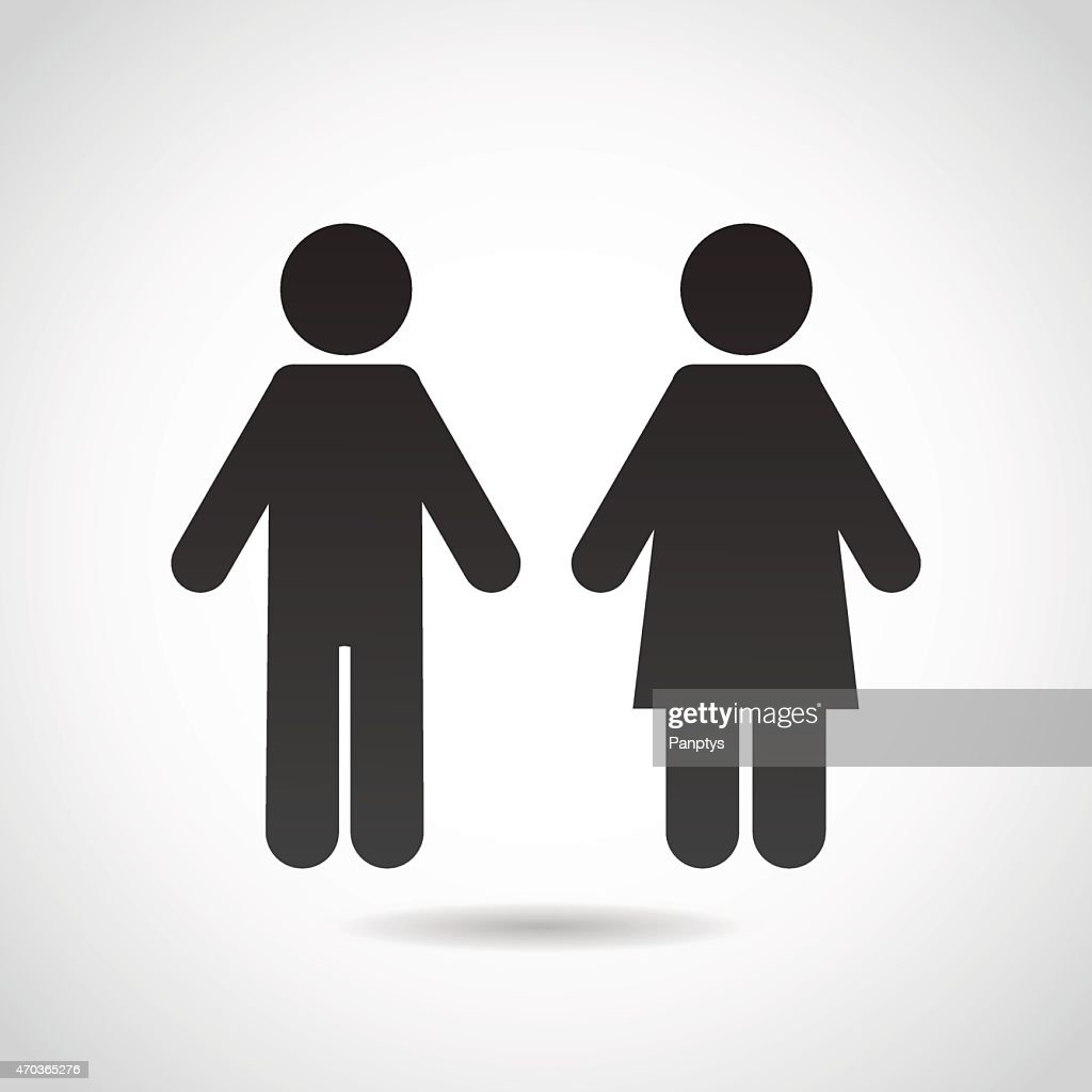 Male, female icon isolated on white background.