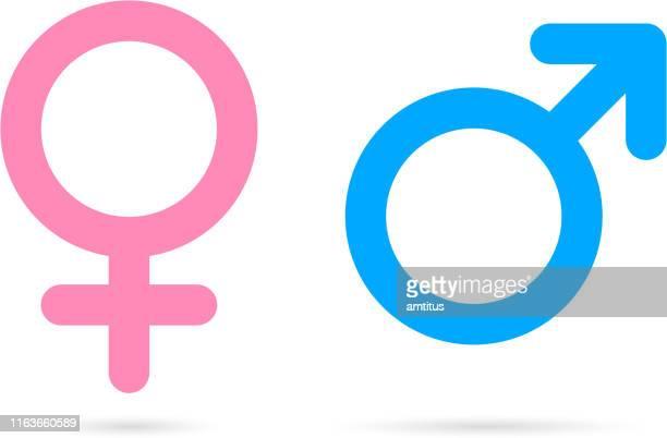 male female icons - masculinity stock illustrations