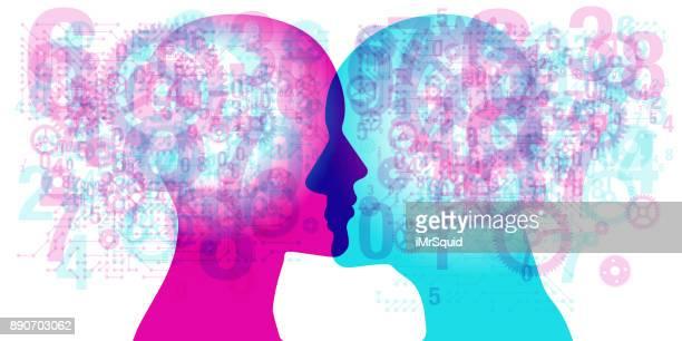Male Female Profile Overlay - Knowledge