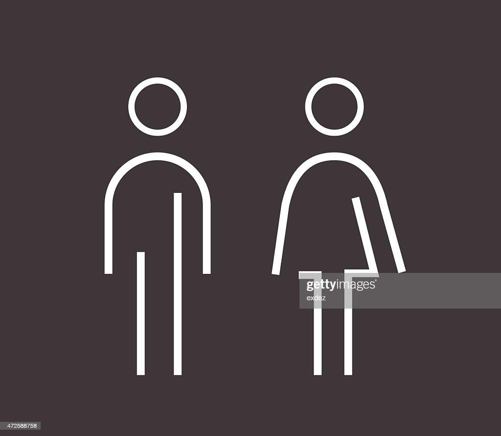 Male female sign : stock illustration