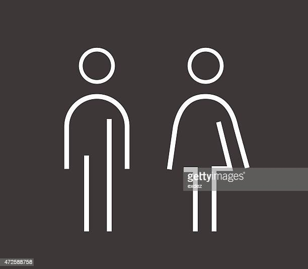 male female sign - sign language stock illustrations, clip art, cartoons, & icons