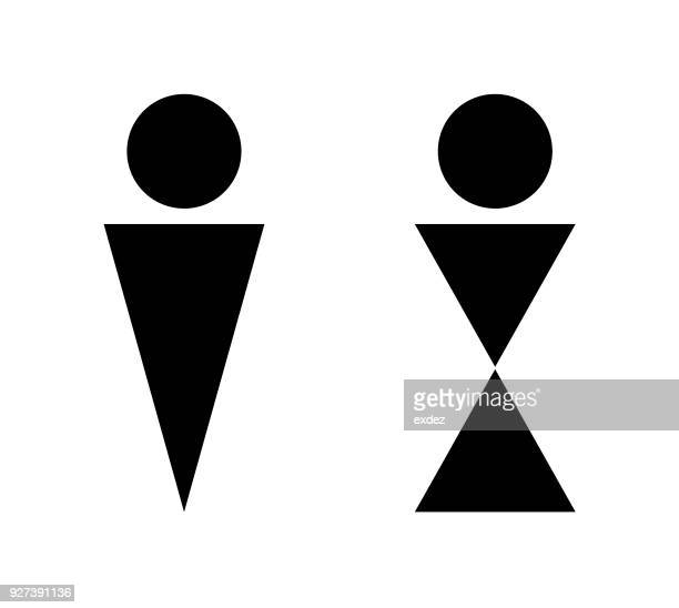 male female sign - toilet sign stock illustrations, clip art, cartoons, & icons