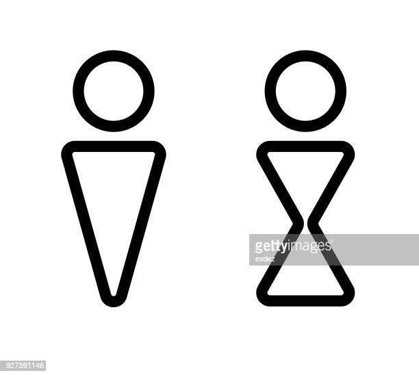 雄雌符号 - 性的問題点のイラスト素材/クリップアート素材/マンガ素材/アイコン素材