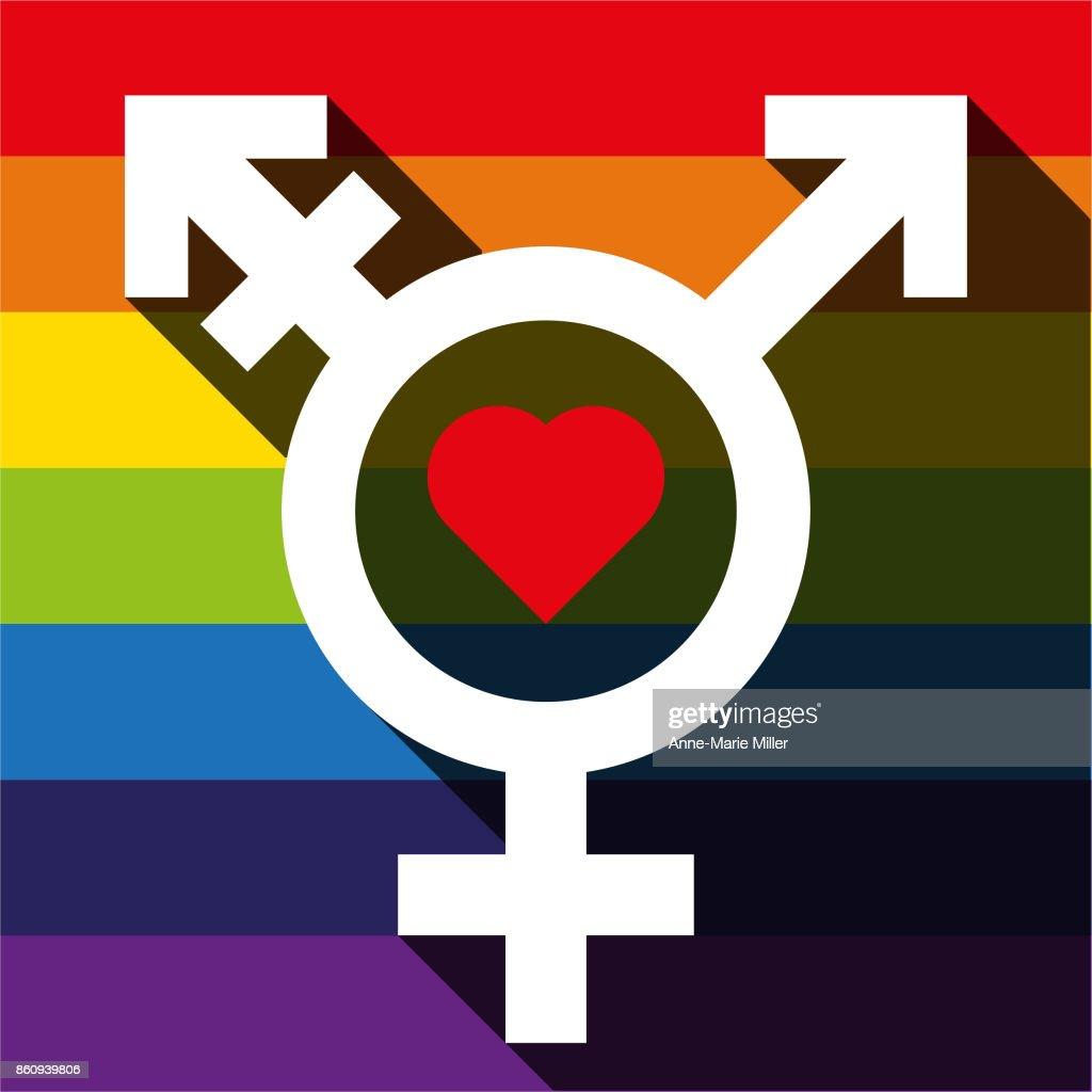 Male female trans symbol