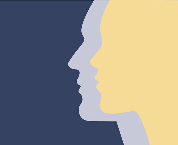 male & female - femininity stock illustrations