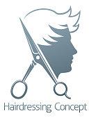 Male Hairdresser Hair Salon Scissors Man Concept