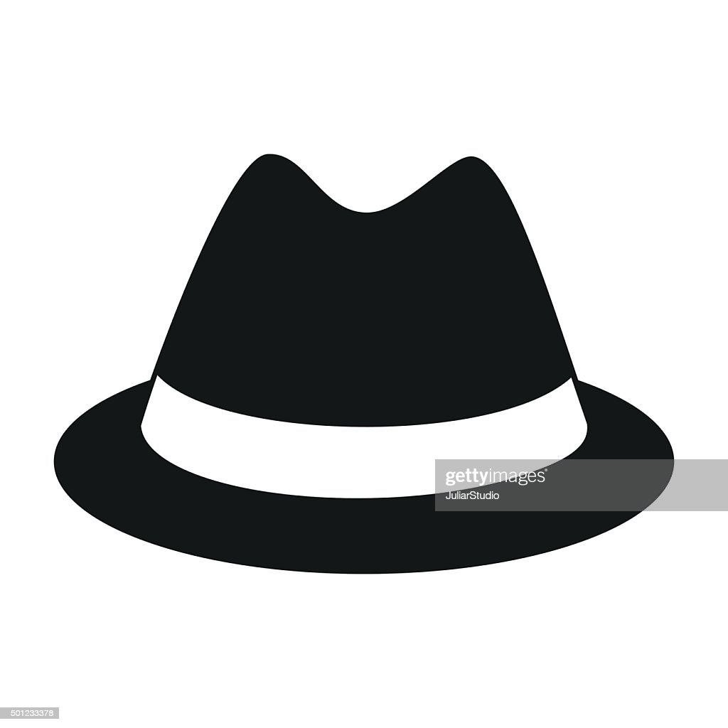 Male hat simple icon