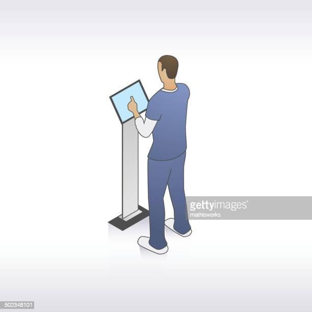 男の看護師のキオスクイラストレーション - ナースステーション点のイラスト素材/クリップアート素材/マンガ素材/アイコン素材