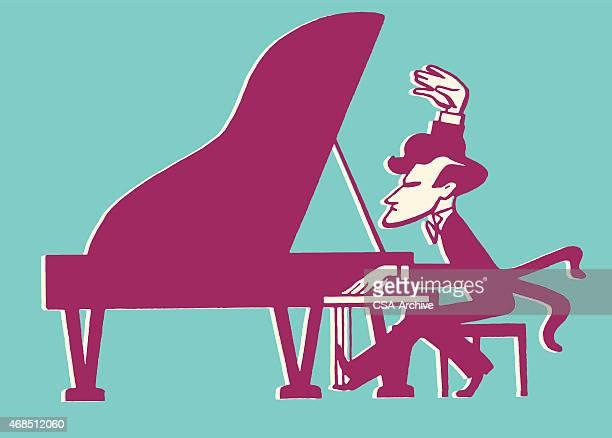 Male Pianist at Grand Piano