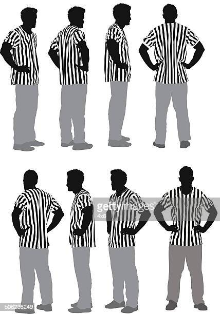 male referee - hand on hip stock illustrations, clip art, cartoons, & icons