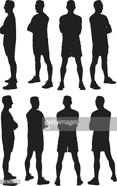 Male runner standing