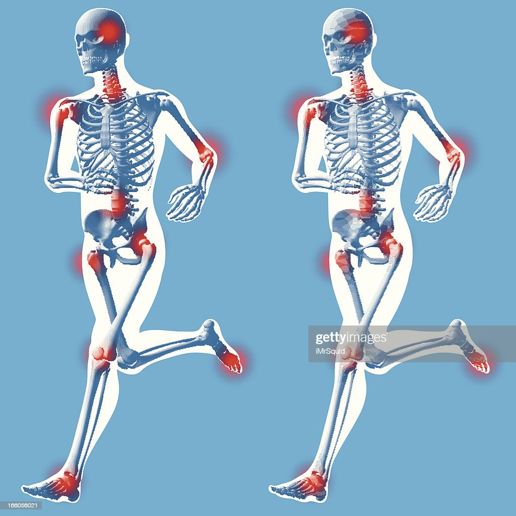 Male Running 3 Quarter Front View Vector Art Getty Images