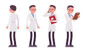 Male scientist standing