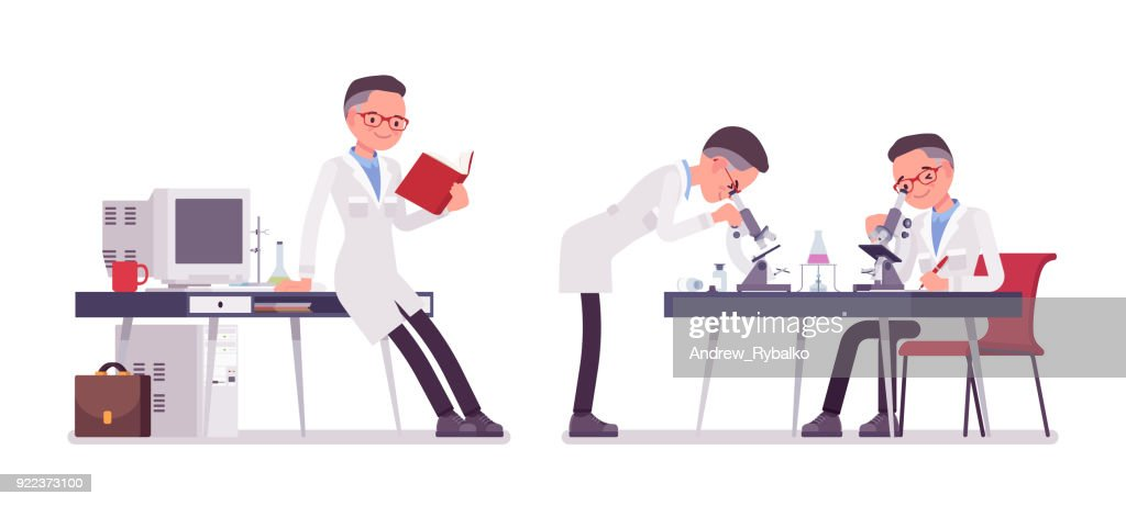 Male scientist working