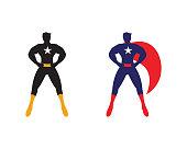 Male superhero vector icon