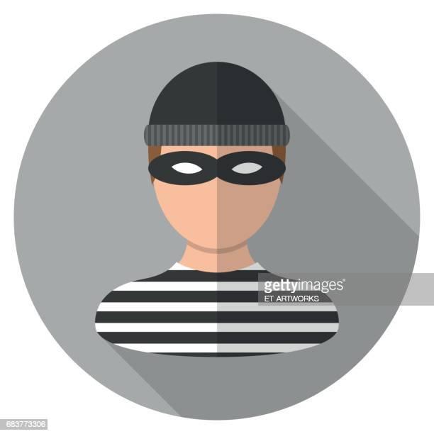 male thief icon - computer hacker stock illustrations