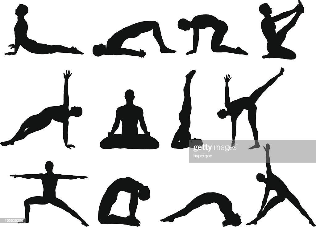 Male Yoga Silhouettes