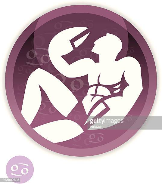 male zodiac - cancer - cartoon cancer stock illustrations