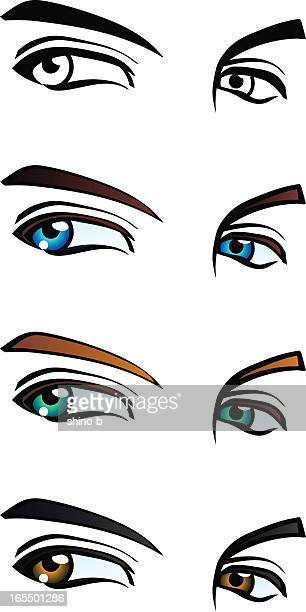Males eyes in 4 styles
