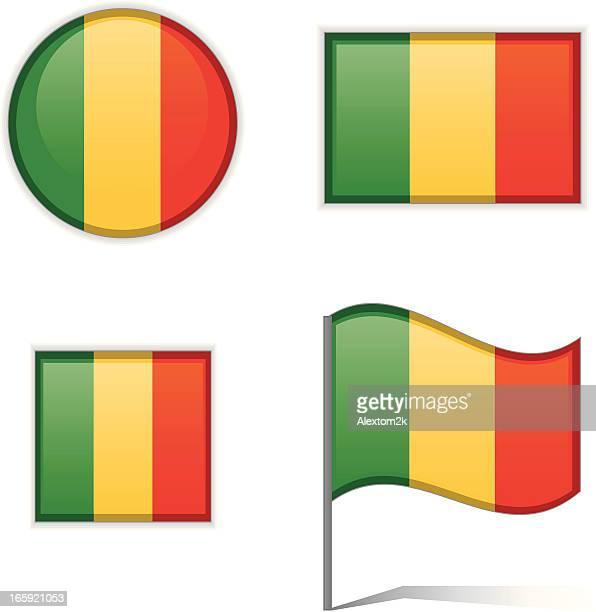 mali flags - mali stock illustrations, clip art, cartoons, & icons
