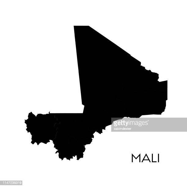 mali map - mali stock illustrations, clip art, cartoons, & icons