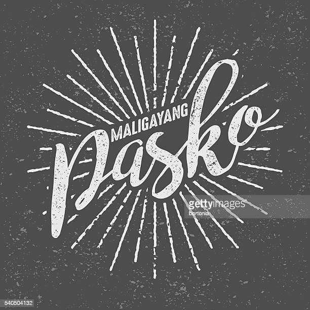 maligayang Pasko Philippinischer ('Fröhlich Christmas') klassisch-Siebdruck