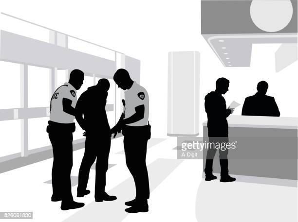 mall arrest - arrest stock illustrations, clip art, cartoons, & icons