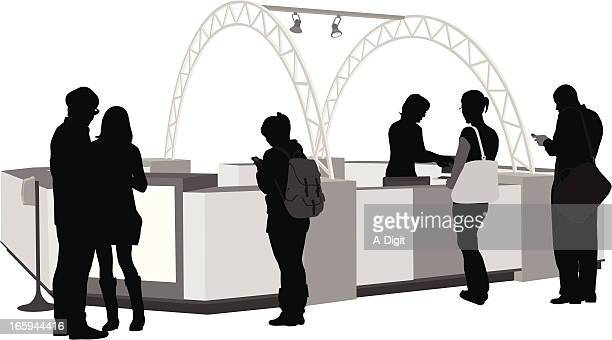 Mall Services Vector Silhouette