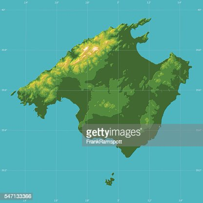 Mallorca topographic relief vector map vector art getty images gumiabroncs Choice Image