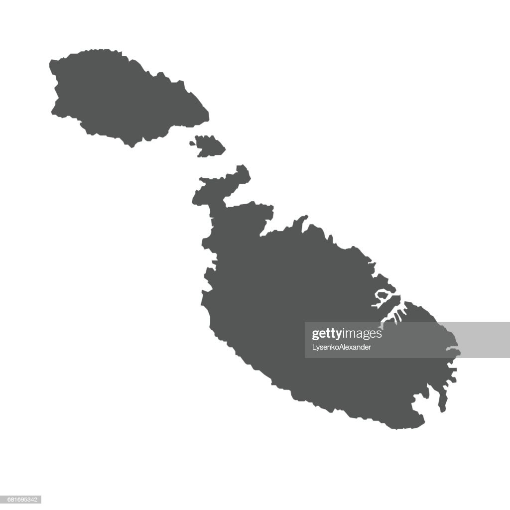 Malta vector map.