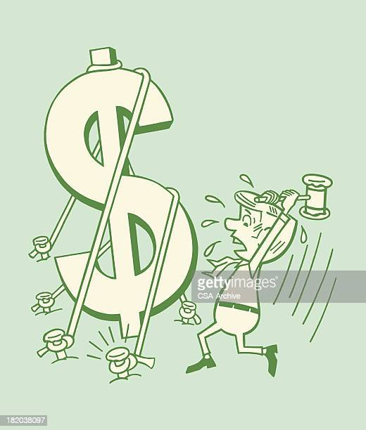 Man About to Break a Dollar Sign