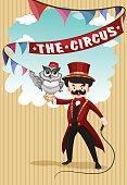 Man and animal show at circus
