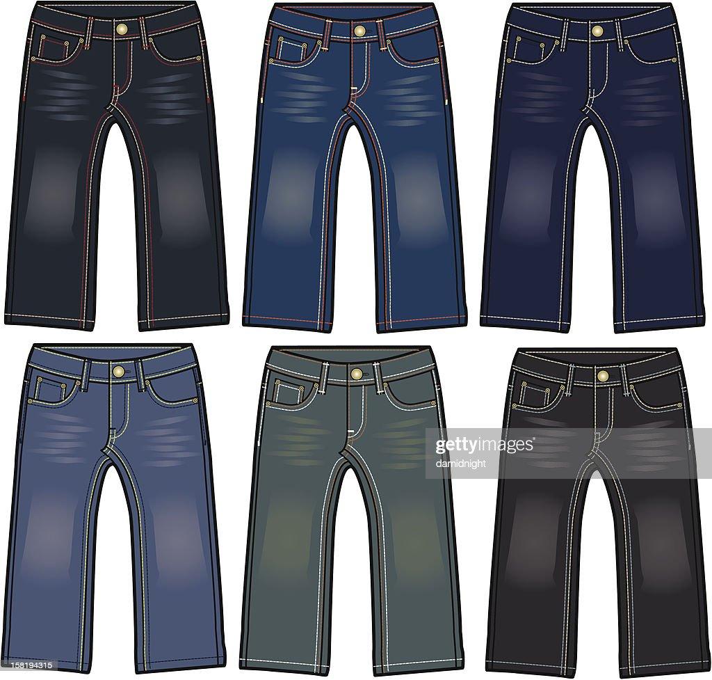 man and boy denim jeans