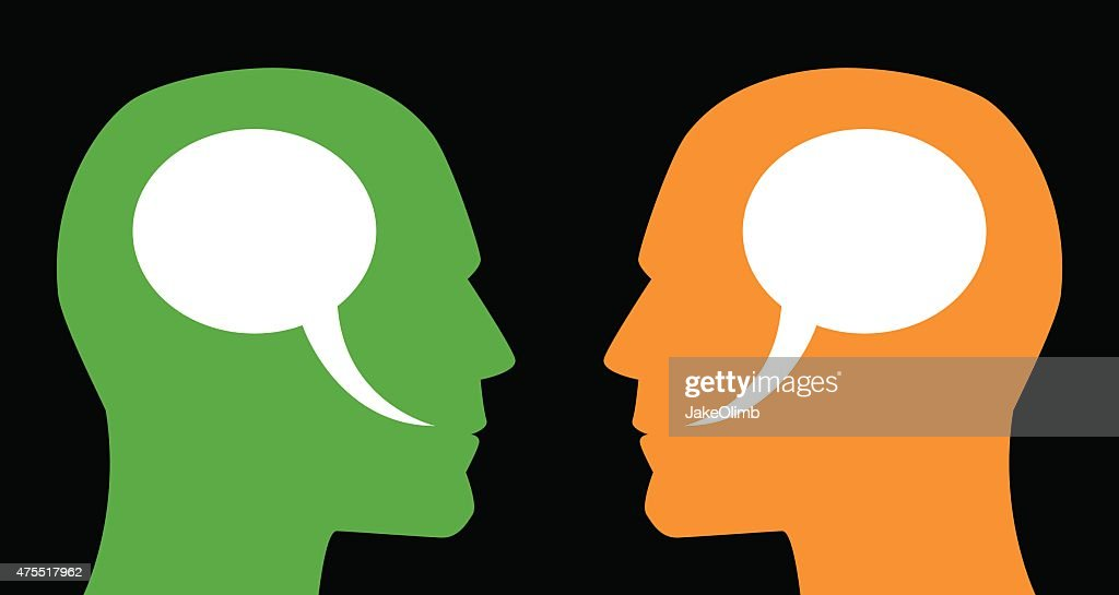 Man and Man Speech Bubbles