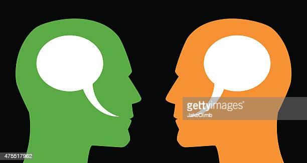 Man and Man Speech Bubbles