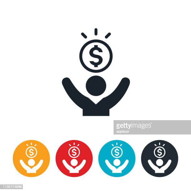 man and money icon - abundance stock illustrations