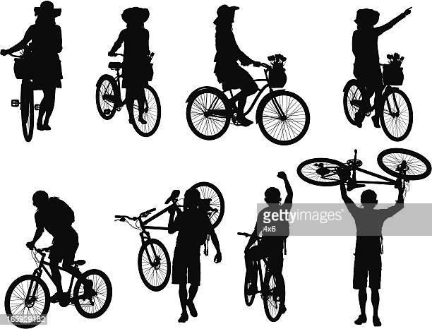 Mann und Frau Radfahren