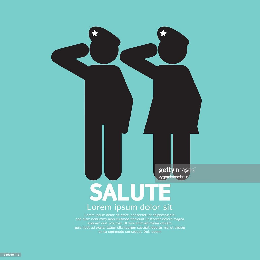 Man And Woman Gave The Salute Gesture
