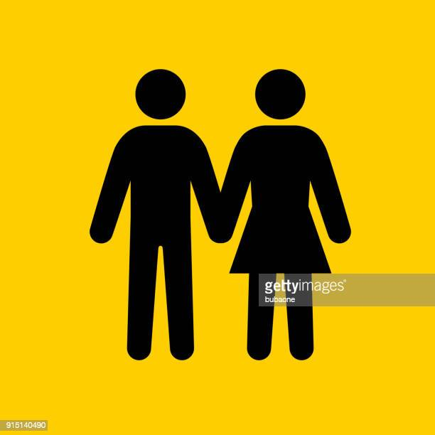 man and woman holding hands. - males stock illustrations, clip art, cartoons, & icons