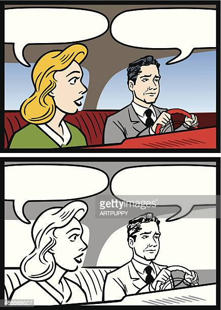 Man And Woman In Car Talking