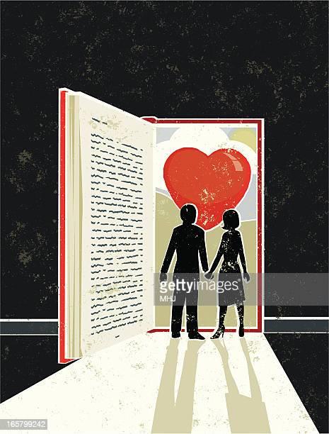 男性と女性である、love story ご予約 - ロマンス点のイラスト素材/クリップアート素材/マンガ素材/アイコン素材