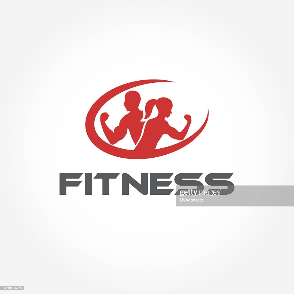 man and woman of fitness silhouette character