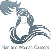 Man and Woman Profile Concept
