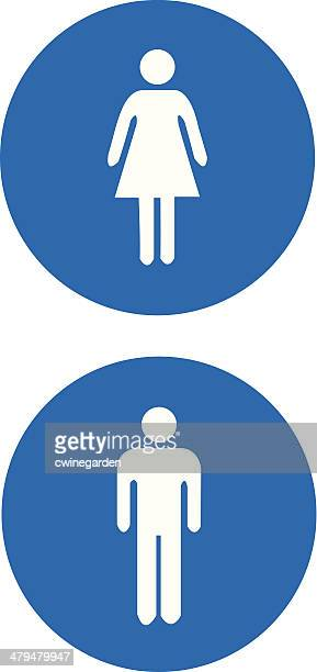 Man and woman signs. (vector)