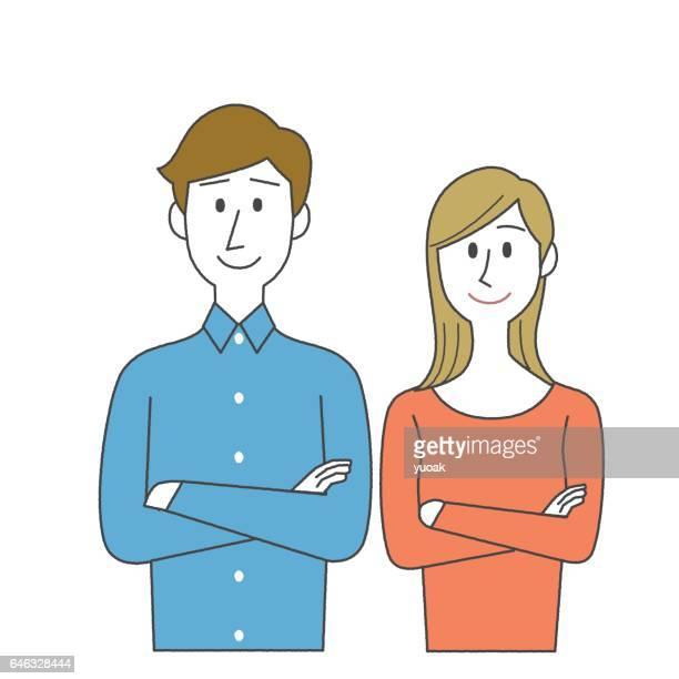 Man and Woman with crossed arms