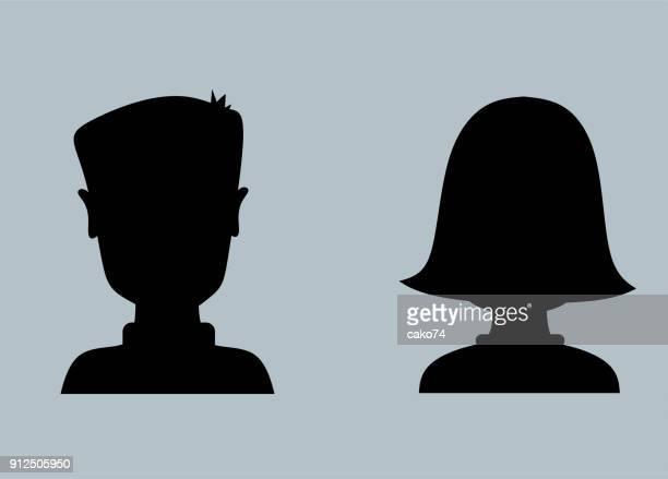 男性と女性のプロフィール アイコン