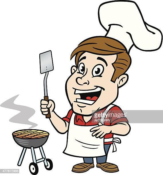 Man At BBQ