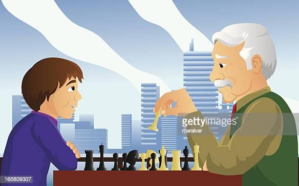 man boy chess